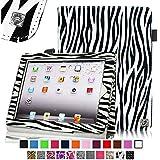 Fintie iPad 1 Folio Case - Slim Fit Vegan Leather Stand Cover with Stylus Holder for Apple iPad 1 1st Generation - Zebra Black