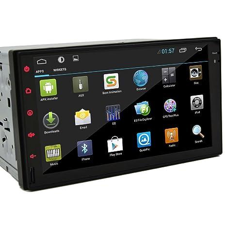 NouveautšŠs Tablet-Design 7 pouces Android 4.2 voiture stšŠršŠo Radio Double Din capacitif HD šŠcran multi-touch de voitures Pas-DVD StšŠršŠo Dash GPS Navi navigation Appu