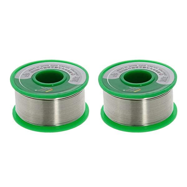 Utoolmart Lead Free Solder Wire 0.8mm Dia 100g Soldering Tin Wire Silver for Electrical Soldering and DIYs 2pcs (Color: 2pcs, Tamaño: 0.8mm)