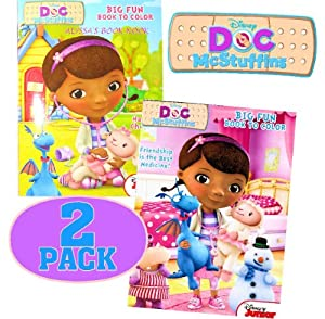 Disney® Doc McStuffins Coloring and Activity Book Set (2 Books ~ 96 pgs each)