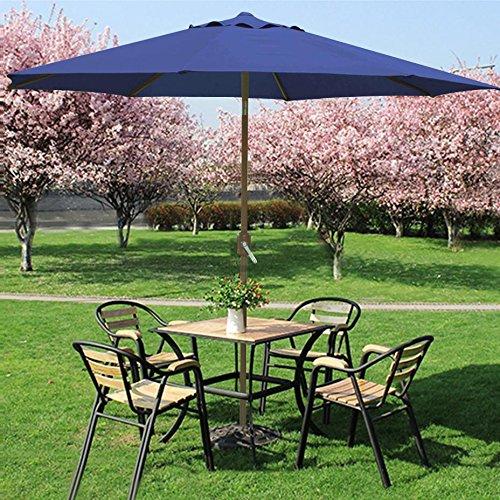 Outdoortips 3M Outdoor Garden Patio Umbrella, 45 Degree Tilt, UV Protection  Pool Hotel Parasol