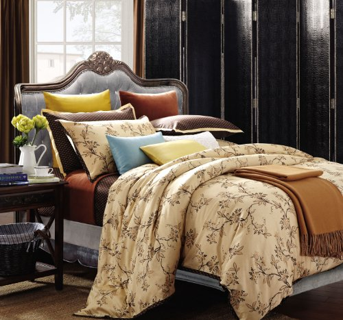 Spectacular  Thread Count Cotton Woodhaven Duvet Cover Set King California King