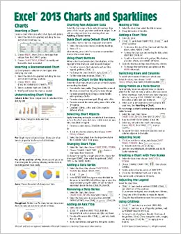 Microsoft Excel 2013 Charts Amp Sparklines Quick Reference