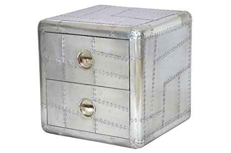 Moebel Made of Aeroplane Aluminium Chest 2 Drawers Recycled