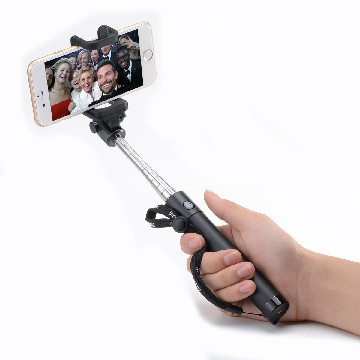 Selfie Stick - Disph® Extendable Pole Bluetooth Self Shooting Monopod - Best Selfie Sticks on Amazon - Universal for Taking Self Portrait Selfy Shots on Iphone 6, Samsung Galaxy ,Android and All Other Bluetooth Enabled Devices selfie sticks