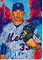 Matt Harvey #2 - #1/9 - ULTRA RARE! - 1ST CARD in the Series of 9 - New York Mets - Limited Edition Original Artwork Sketch Card