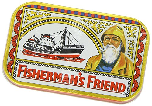 3 x Fisherman's Friend Tins with 40g each (1.4oz) Original Extra Strong Lozenges - the Classic Sore Throat Sweet in a Reusable Tin Box the false friend