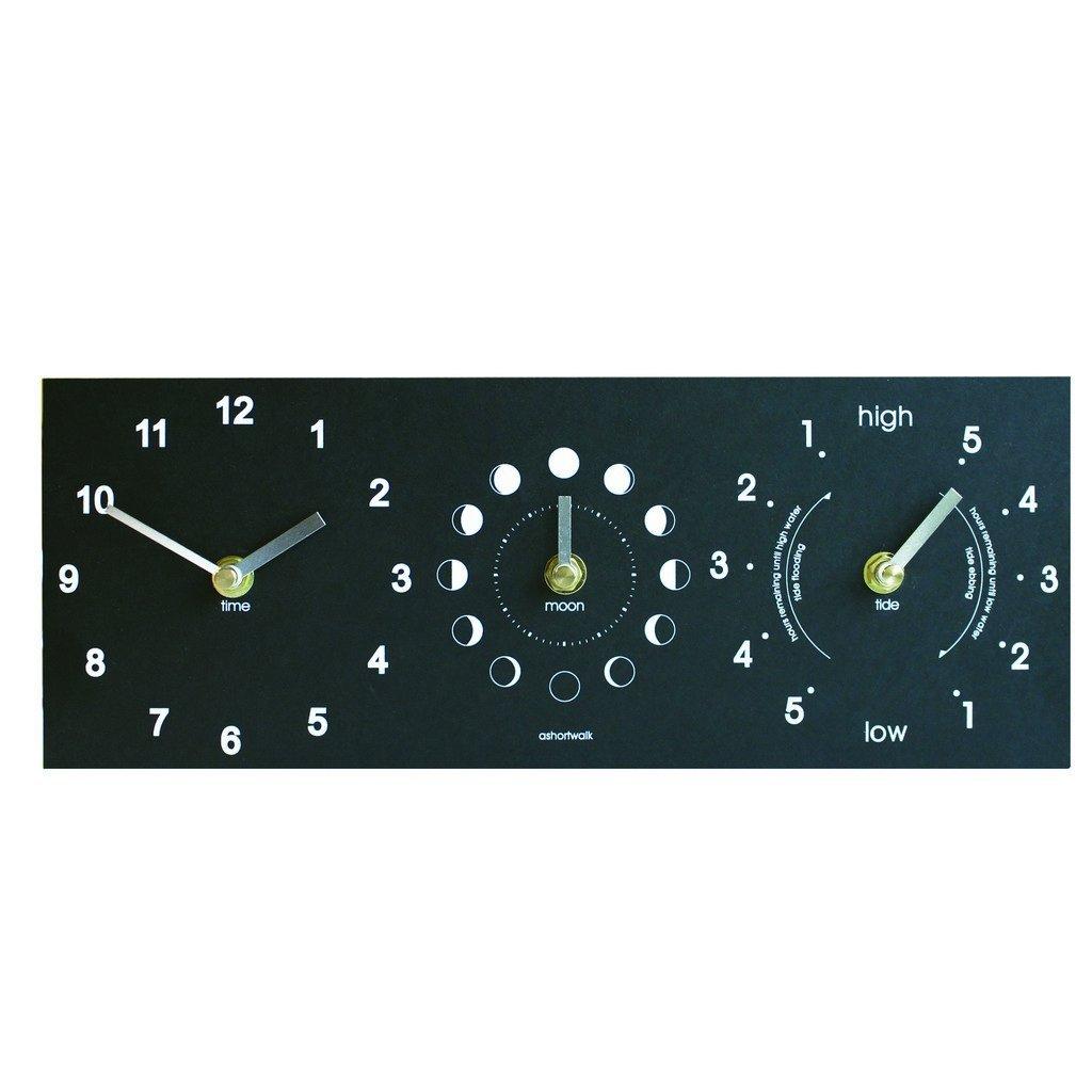 Ashortwalk Eco Range Uhr aus recycelten Kaffeetassen Moon tide and time clock    Kundenbewertung und Beschreibung