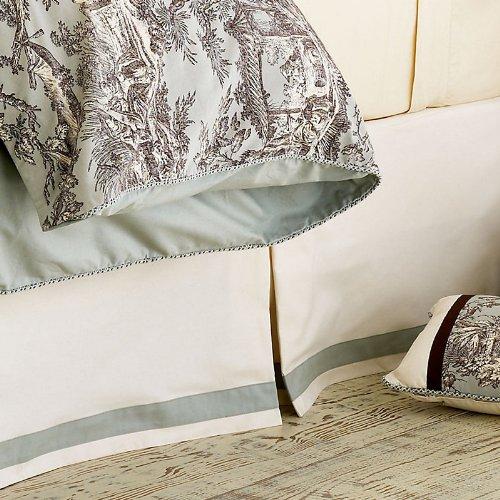 Camille Toile - Bed Skirt Twin Bedskirt - Ballard Designs front-288329