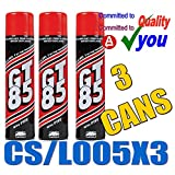 GT85 X 3 Cans PTFE Chain Lubricant GT 85 Water Displacer 400ml