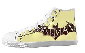 Custom Batman Design High Top Sneakers Lace Up Trendy Canvas For Men's Shoes-7M(US)
