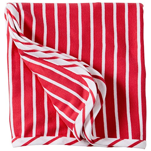 Hanna Andersson Baby So Soft Blanket In Organic Cotton, Apple Red/White front-753363