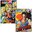 Showa Onepiece and Dragonball Coloring Book Set of 2