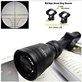 COOLOH Yannuo Trading 3-9X40 Tactical Riflescope Optic Sniper Deer Rifle Scope Hunting Scopes Airgun Rifle Outdoor Reticle Sight Scope (10mm) (Color: 10mm)