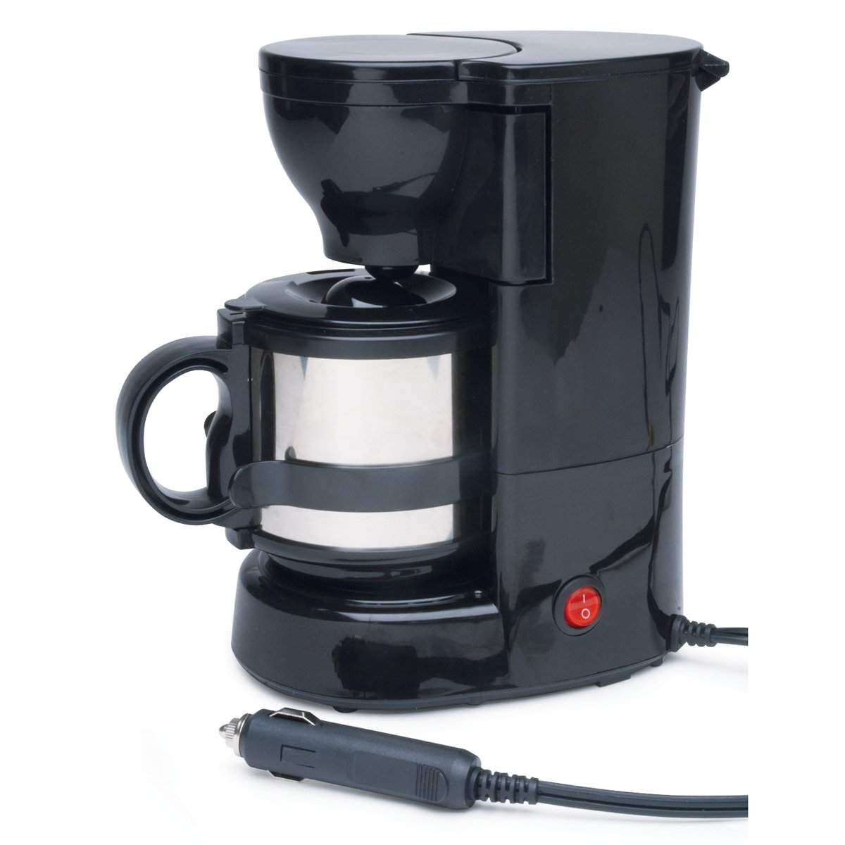 Roadpro RPSC-784 12-Volt Quick Cup Coffee Maker with 16 oz. Metal Carafe at Amazon.com