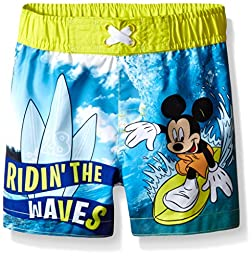 Disney Baby-Boys Mickey Trunk, Blue, 18 Months