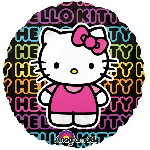 "Hello Kitty Tween Neon Letter 32"" Mylar Foil Balloon - 1"