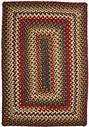 Homespice Decor Sunrose Red-Green Oval 2\'6\