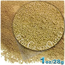 The Crafts Outlet MCR-GLS-MTL-MA6-CHM Metallic Glass Microbead 1 Bag of 1-Ounce Yellow Champagne