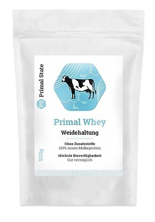 PRIMAL WHEY Protein Pulver (100% reines Molkeprotein von Weidetieren) - 453g
