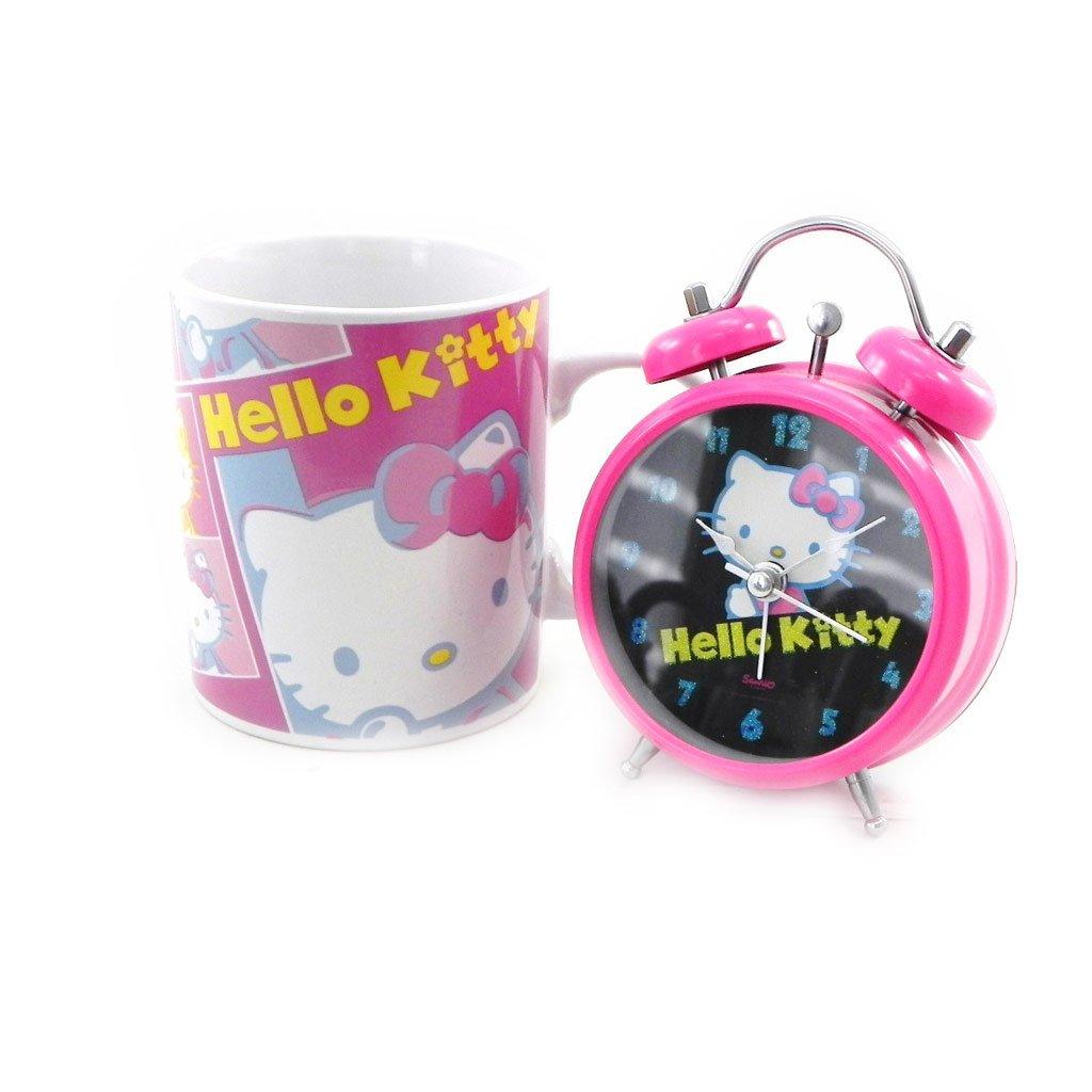"""Alarm-box """"Hello Kitty"""" + rosa schwarze tasse. jetzt bestellen"""
