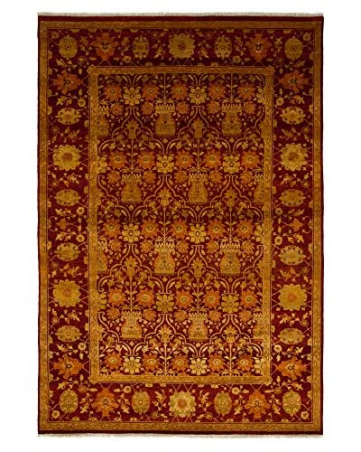 Darya Rugs Traditional Oriental Rug, Red, 6′ 1″ x 8′ 10″