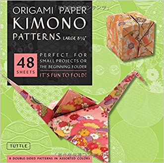 "Origami Paper - Kimono Patterns - Large 8 1/4"" - 48 Sheets: (Tuttle Origami Paper)"