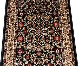 dean classic keshan ebony custom length carpet rug runner purchase by the linear. Black Bedroom Furniture Sets. Home Design Ideas