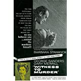 Witness to Murder - Movie Poster/ Plakat - 28x44cmvon &#34;MovieGoods&#34;