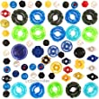50pcs Beyblade Randomized Parts Kit Pack w/ Performance Tips, Energy Rings, Spin Tracks & Face Bolts