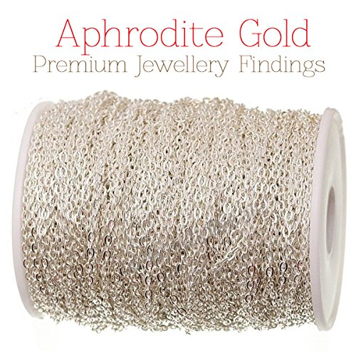 aphrodite-gold-marque-10-metres-chaine-metal-argente-2-mm