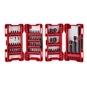 MILWAUKEE ELECTRIC TOOL 48-32-4028 Shockwave ID Bit Set 55P (Tamaño: 55 SET)