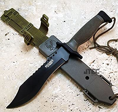 Tactical Bowie Survival Hunting Knife 12 Inch Military Combat Fixed Blade Jvr57 from Defender
