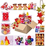 Christmas Tree Decoration Ornaments - Mixed Pack Of 11 Varieties With Pleasing Hanging Ornaments To Complete The...