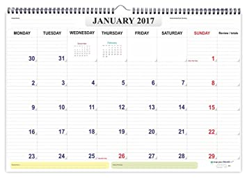 mapyourmonth Planner Organizer Diary Wall Calendar 2017: Amazon.in ...