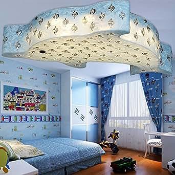 Children 39 s bedroom ceiling lamp creative cute dolphin lamp for Boys bedroom light fixtures