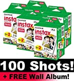 Fujifilm Instax Mini Film Bundle Pack (100 Shots) + FREE Wall Album!