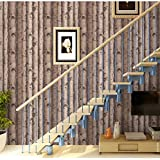 Blooming Wall:3d Birch Tree Wall Mural Wallpaper,20.8 In*32.8 Ft=57 Sq Ft/Roll,Looks real up! Brown