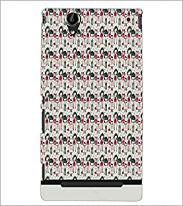 PrintDhaba Pattern D-1564 Back Case Cover for SONY XPERIA T2 ULTRA (Multi-Coloured)