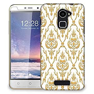 Snoogg Golden Pattern Designer Protective Phone Back Case Cover For Coolpad Note 3 Lite