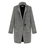 Tonsee® Femmes Grande revers Manteau en laine cachemire long Parka Trench Jacket Outwear (S)...