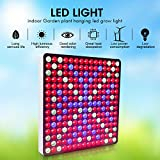LED Hanging Grow Lights, Pathonor 50W LED Red Blue White LED Plant Grow Light Hanging for Indoor Plant for Garden Greenhouse and Hydroponic Full Spectrum Growing Lamps Plant Grow Light Hanging 4 B