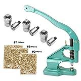 iMeshbean Hand Grommet Machine 3 Die (#0#2#4) Manual Grommet Press Punch DIY Tool Kit Eyelet Press Machine with 1500 Grommets