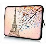 """FBAps14-001 Colorfulbags® NEW Art design Eiffel Tower 13.5"""" 13.6"""" 14"""" 14.2"""" 14.4"""" inch soft NEOPRENE Notebook Laptop Sleeve bag Case Cover pouch for MacBook, Acer, ASUS, Dell, HP, Lenovo, Sony, TOSHIBA 800/SONY EG3/ACER/Thinkpad E420/Samsung 530 Q470 Q460"""