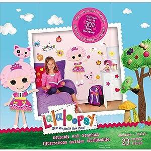 Amazon.com: Lalaloopsy Sew Magical! Sew Cute! Reusable Wall Graphics