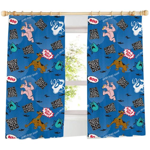 Image of SCOOBY DOO KIDS BOYS BEDROOM CURTAINS SET 66 X 54
