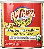 Earth's Best Organic Infant Formula DHA & ARA with Iron, 23.2 oz