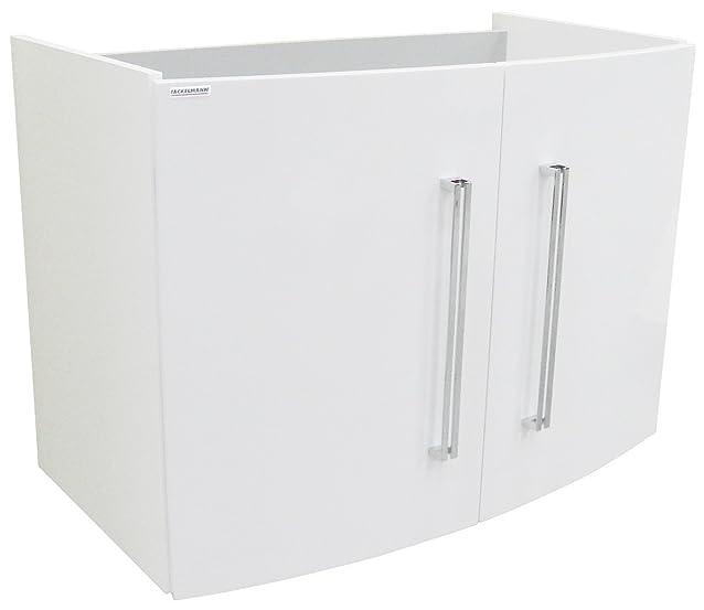 Fackelmann mobiletto da bagno 80cm Bianco Lucido Bianco Lucido Bad programma: Lugano profondo 45cm