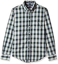 Gant Boys' Shirt (GBSEF0016_Ocean Blue_L)