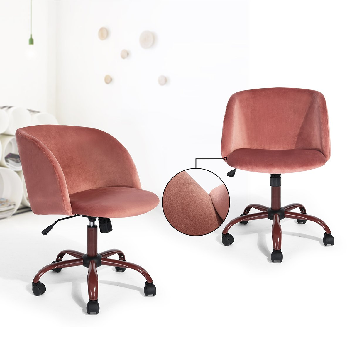 Eggree Mid Back Swivel Computer Desk Chair Ergonomic
